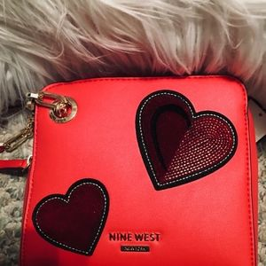 NWT Red Nine West small crossbody bag
